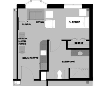 Studio-B Floorplan