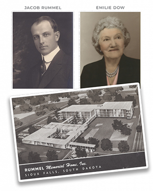 Old Photos of Jacob Rummel and Emilie Dow and the Original Rummel Memorial Home